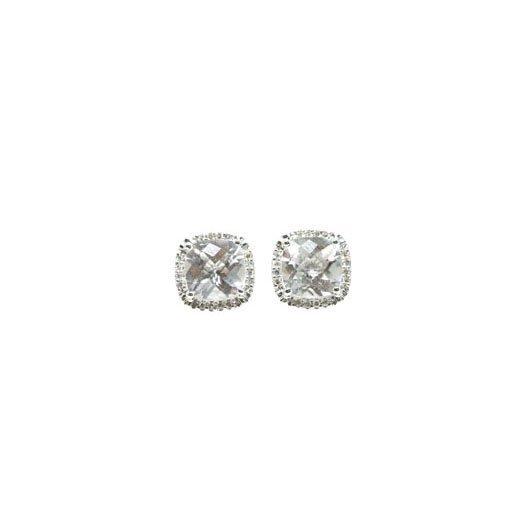 2e8379529fcdd White Topaz & Diamond Earrings